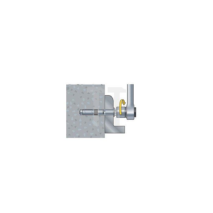 Schwerlastanker SWA plus -B 25/100 Bolzen + Sechskantmutter blau verz. apolo MEA