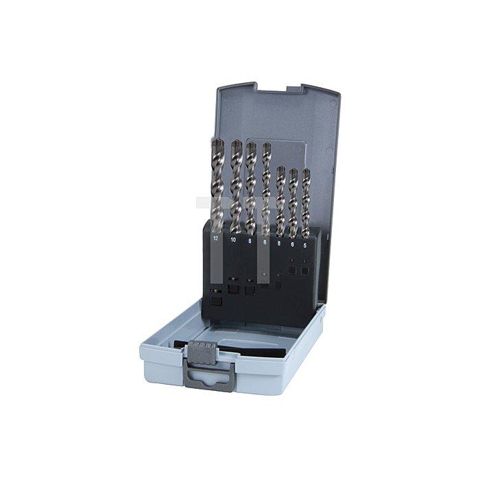 SDS-Plus Hammerbohrer Satz TC5X in Kunststoffkassette ABS