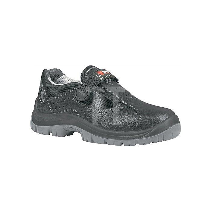 Sicherheits-Sandale EN ISO 20345 S1P SRC Alligator Gr. 45 Rindleder schwarz