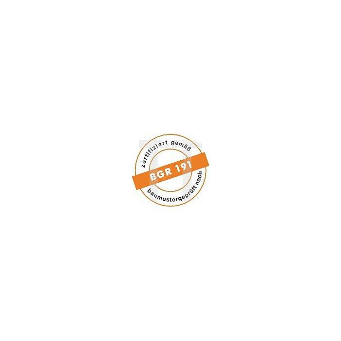 Sicherheits-Schnürstiefel EN ISO 20345 S1P SRC Caravan Gr. 44 Veloursleder blau