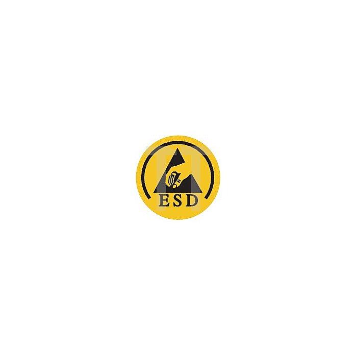 Sicherheits-Schnürstiefel EN20345 ESD S3 Teak Gr.46 Glattleder schwarz Überkappe
