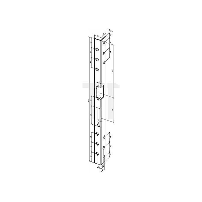 Sicherheits-Winkelschl.bl 312 DIN links Edelstahl Gesamtlänge 300mm