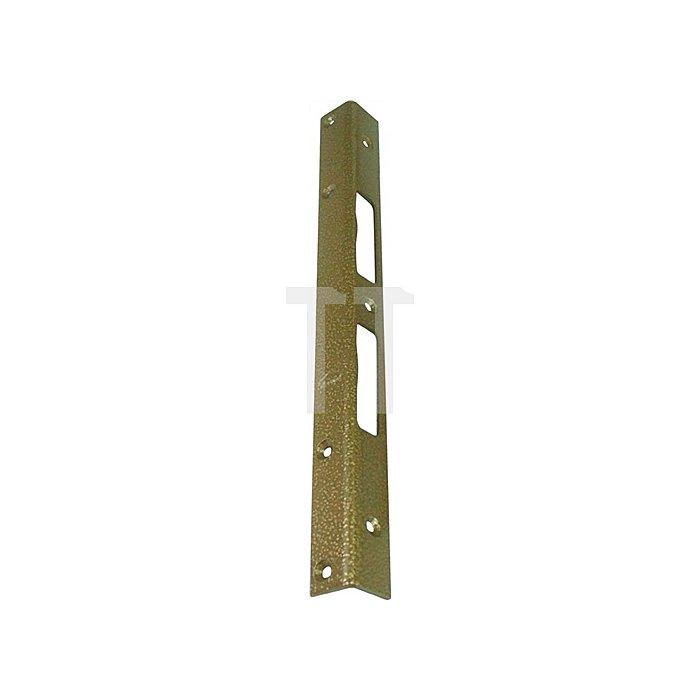 Sicherheits-Winkelschließblech 300x25x25x3mm stark Stahl hell verzinkt
