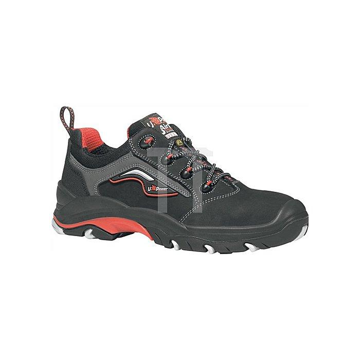 Sicherheitsschuh EN ISO 20345 ESD S3 SRC Master Gr. 40 Nubukleder schwarz/rot