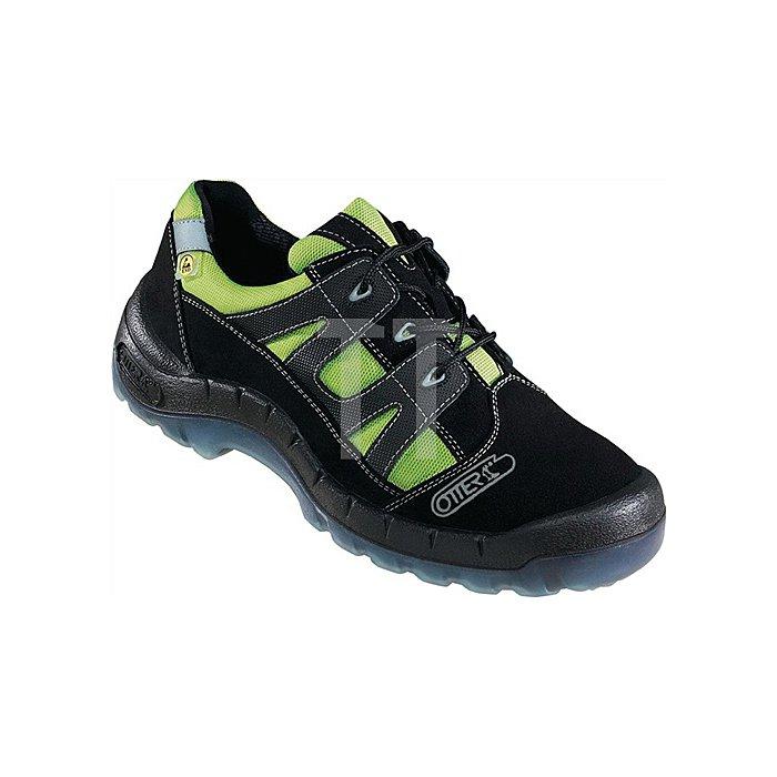 Sicherheitsschuh EN20345 S2 Gr.45 Nr.93721-524 Textil Velourleder schwarz/grün