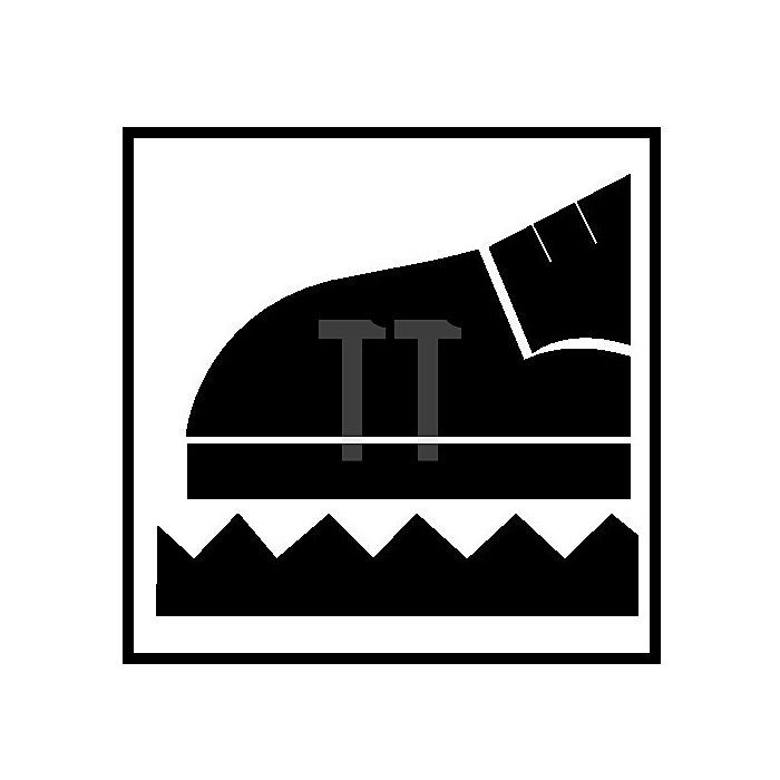 Sicherheitsschuhe Gr.43 S1P Demon Grip W.11 schwarz/rot Veloursleder