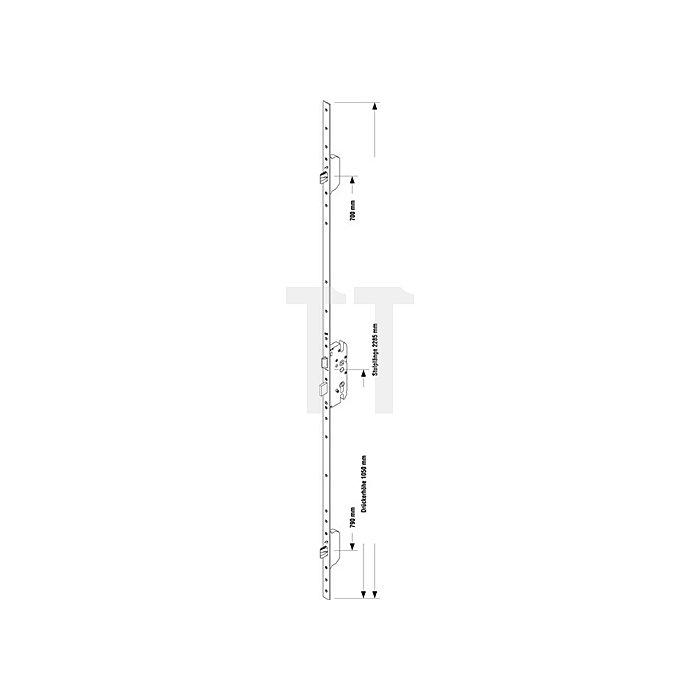 Sicherheitstürverschl.Secury MR 2 Dorn 80mm Enf.92mm Stulp-B.20mm flach PZ gel.