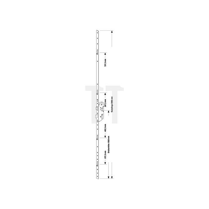 Sicherheitstürverschl.Secury R4 Dorn 55mm Enf.72mm Stulp-B.20mm flach PZ gel.