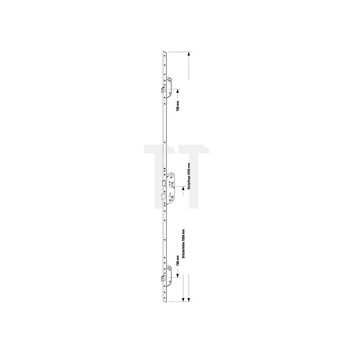 Sicherheitstürverschluss Secury Automatic Dorn 55mm Entf.92mm Stulp-B.20mm flach