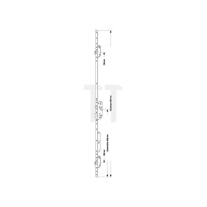 Sicherheitstürverschluss Secury Automatic m.A-Öffner Dorn 80mm Entf.92mm
