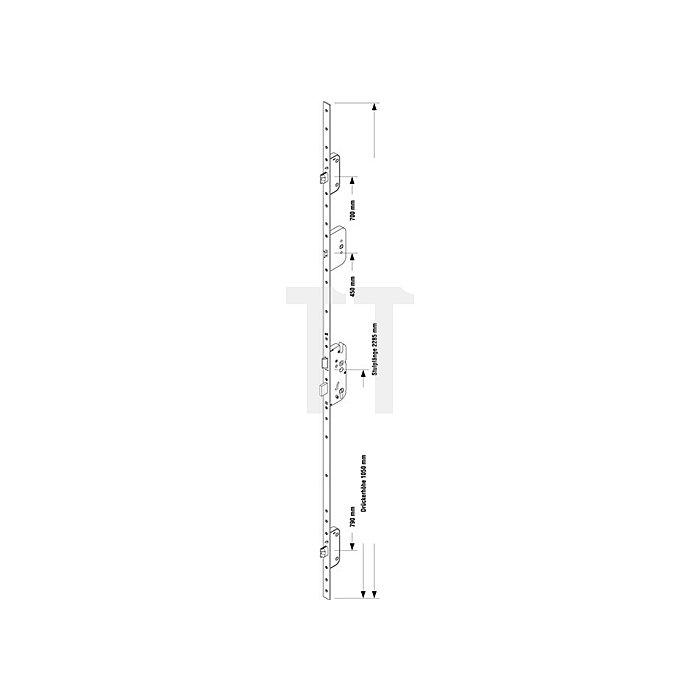Sicherheitstürverschluss Secury Automatic m.Sperrbügel Dorn 65mm Entf. 92mm 16mm