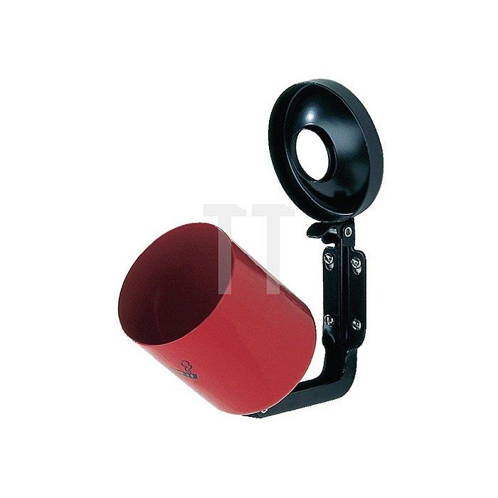 Sicherheitswandascher neusilber m.Kippvorrichtung H.100xD.90mm