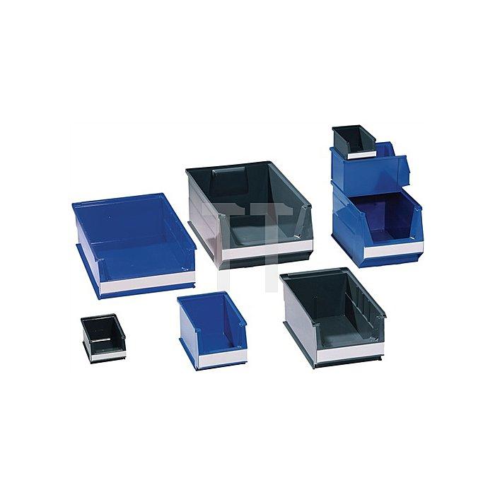 Sichtlagerkasten blau f.ca.0,8l L.160/140xB.100xH.75mm a.PE stapelbar
