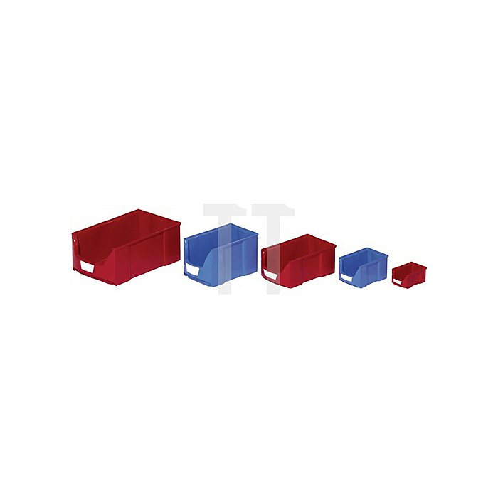 Sichtlagerkasten FA5 Trgf.3kg rot L.168/140xB.100xH.75mm stapelbar 0,9l