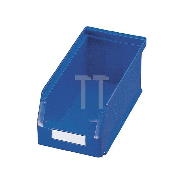 Sichtlagerkasten Gr.5 blau L.290xB.140xH.130mm f.Schlitzplatte