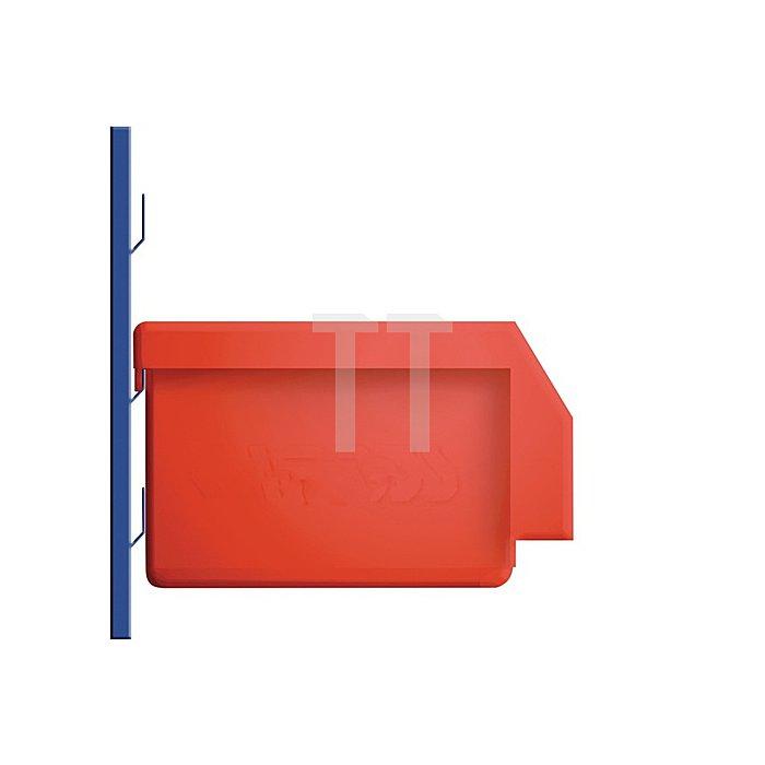 Sichtlagerkasten Gr.5 rot L.290xB.140xH.130mm f.Schlitzplatte