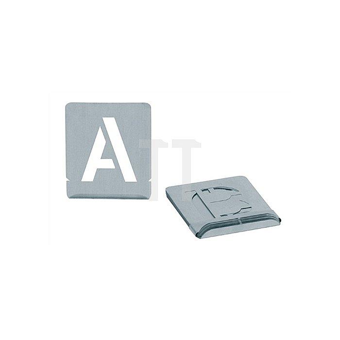 Signierschablonensatz Schrift-H.50mm A-Z Blockschrift
