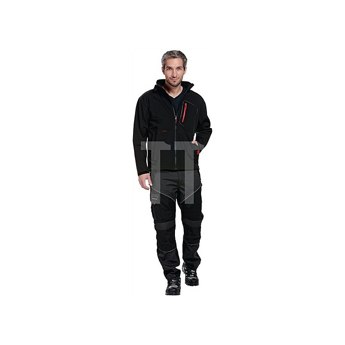 Softshell-Jacke Gr.M schwarz 93% Polyester, 7% Elasthan