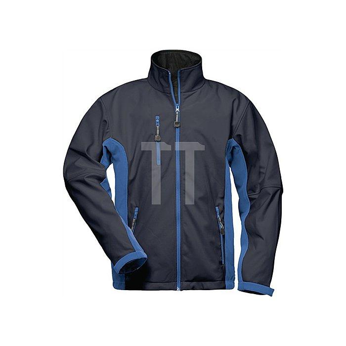 Softshell Jacke Hellios Gr.L marine/royal 96%Polyester,4%Elasthan