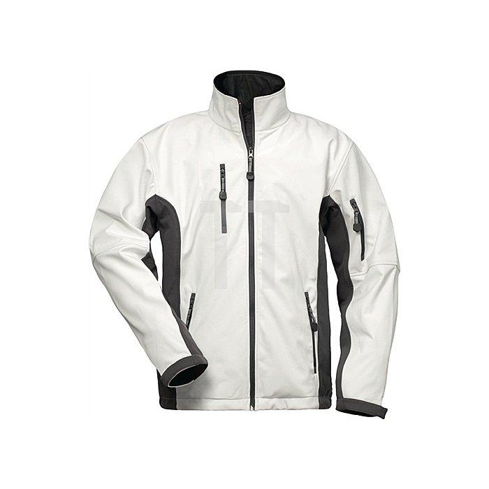 Softshell Jacke Neptun Gr.XL weiss/grau 96%Polyester,4%Elasthan
