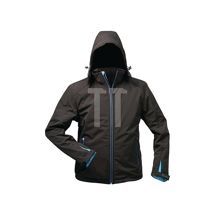 Softshell Jacke Uranos Gr.XXL schwarz/blau 96%Polyester,4%Elasthan