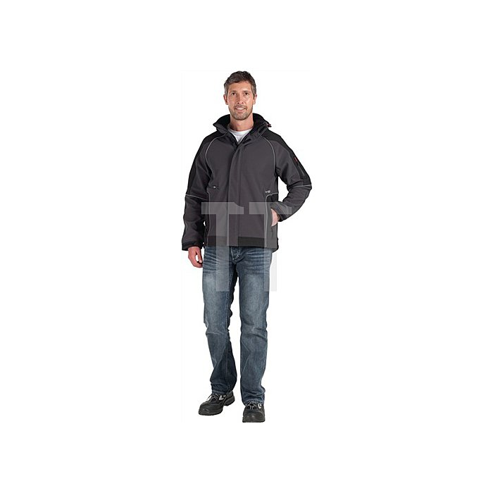 Softshell-Jacke Walter Gr.XL anthrazit-schwarz 96%PES/4%Elasthan 380 g/qm