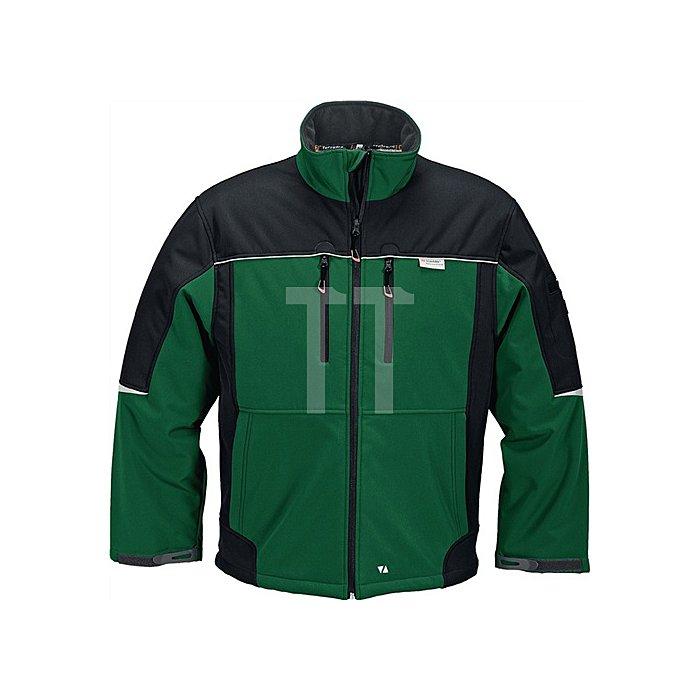 Softshelljacke Gr. M grün/schwarz 65%PES/35%BW