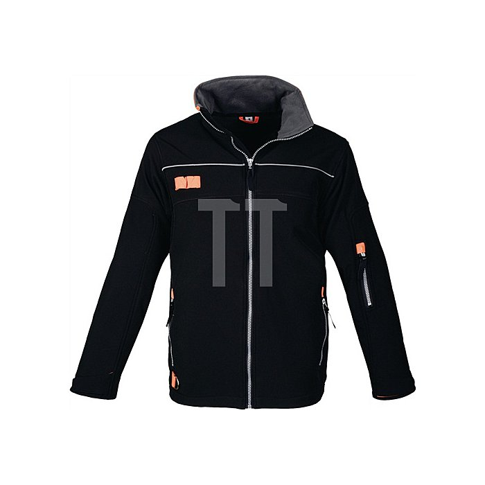 Softshelljacke Gr.XXL schwarz/orange extrem leicht wasserabweisend