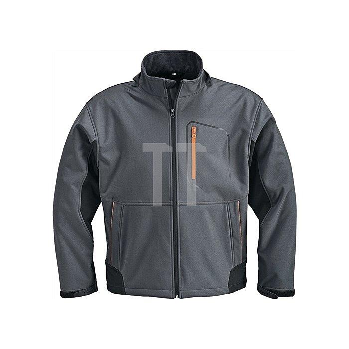 Softshelljacke Gr.XXXL dunkelgrau/schwarz/orange 93%PES/7%Elasthan