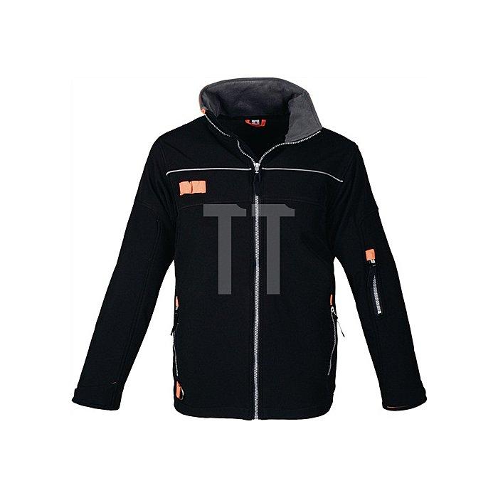 Softshelljacke Gr.XXXL schwarz/orange extrem leicht wasserabweisend