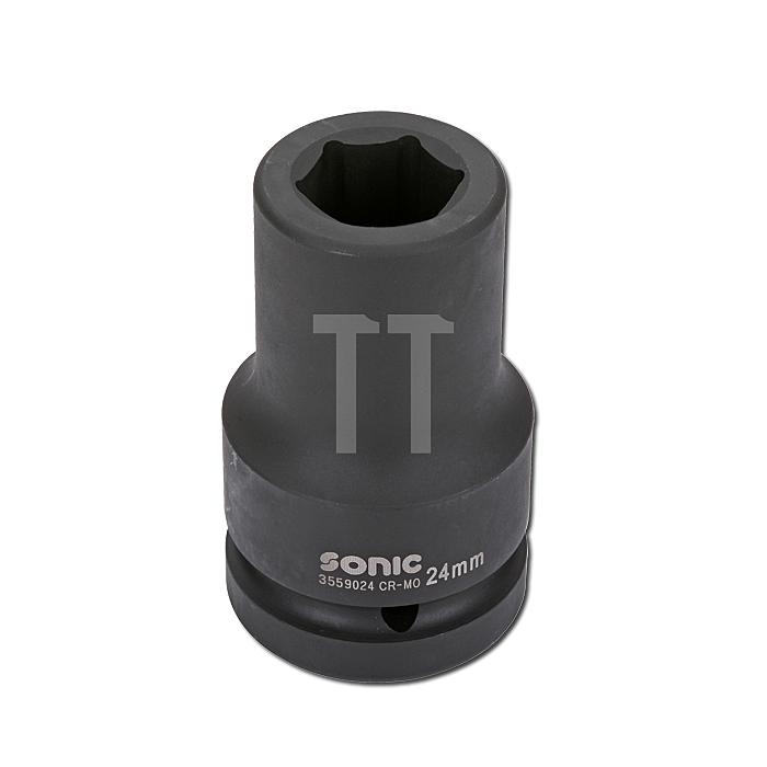 Sonic 1' Schlagschraub-Nuss, 6-kant, lang, 34mm