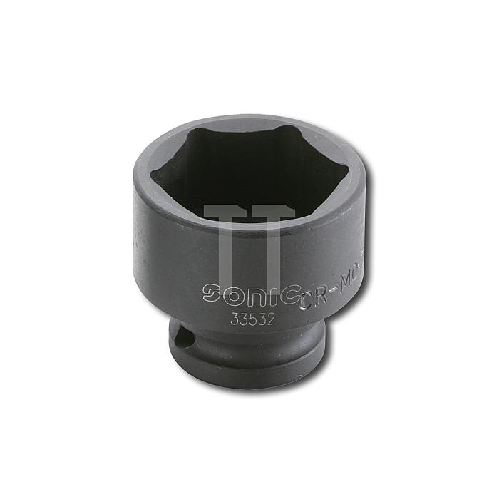 Sonic 1/2' Schlagschraub-Nuss, 6-kant, 24mm