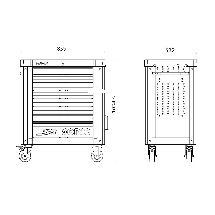Sonic 3/4' 12-kant Nuss, 1.11/16'