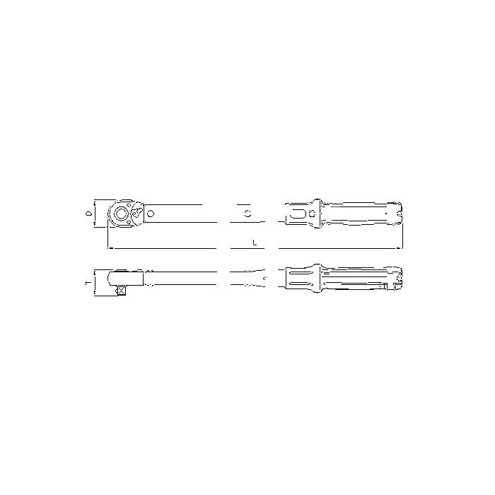 Sonic 3/4' Drehmomentschlüssel, 110-550Nm