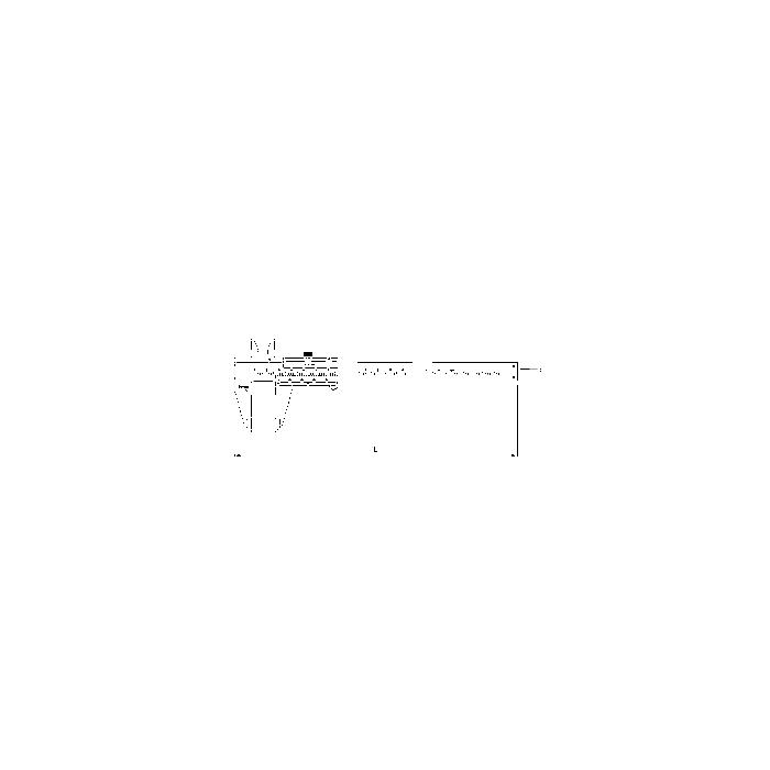 Sonic Edelstahl Messschieber mit Feststellschraube