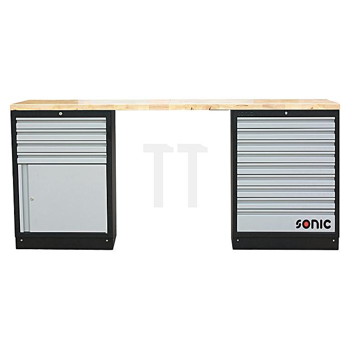 Sonic MSS 26'/34' mit 13 Schubladen, Schrank mit Türe, (Holz)