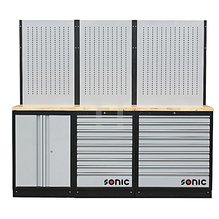 Sonic MSS 26'/34' mit 18 Schubladen mit Holz-Arbeitsplatte