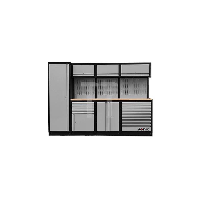 Sonic MSS 281 gefüllt, 533-teilig, Holz-Arbeitsplatte