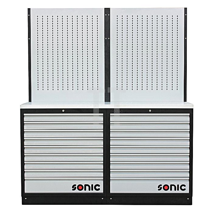 Sonic MSS 34' 18 Schubladen, Lochwand (Edelstahl)