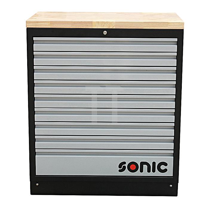 Sonic MSS 34' Schrank mit Holz-Arbeitsplatte