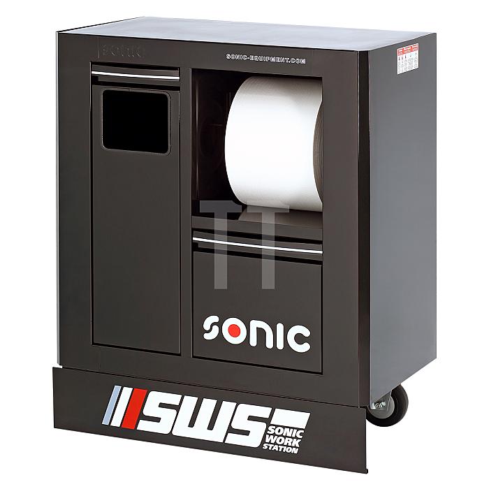 Sonic SWS 32' Abfall Schrank, schwarz