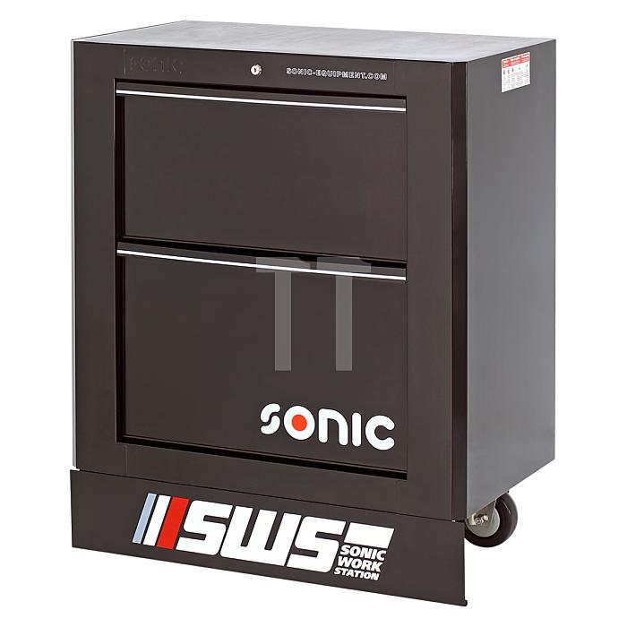 Sonic SWS 32' Werkzeugwagen mit 2 Schubladen, schwarz