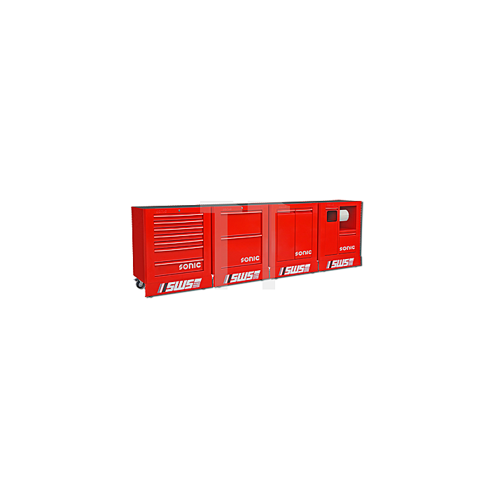 Sonic SWS gefüllt 378-teilig, rot