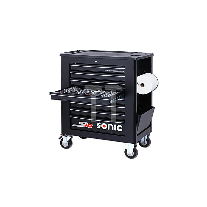 Sonic Werkstattwagen S10 gefüllt, 251-teilig, Schaum 1/3, schwarz