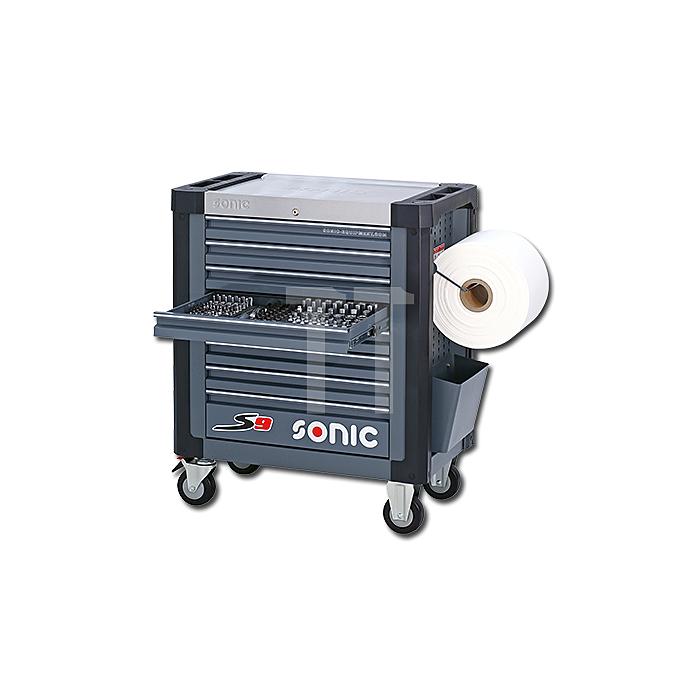 Sonic Werkstattwagen S9 gefüllt, 169-teilig,SAE, dunkelgrau