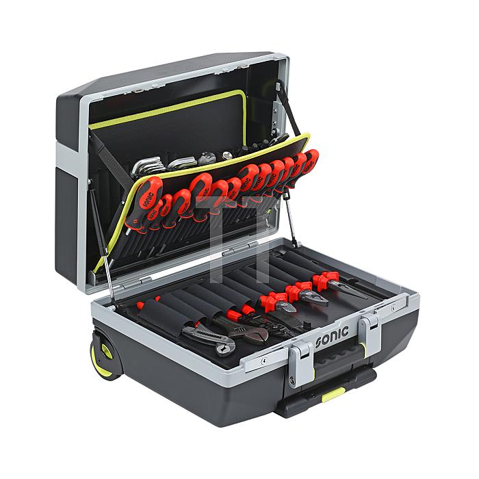 Sonic Werkzeugkoffer gefüllt, Räder, 132-teilig