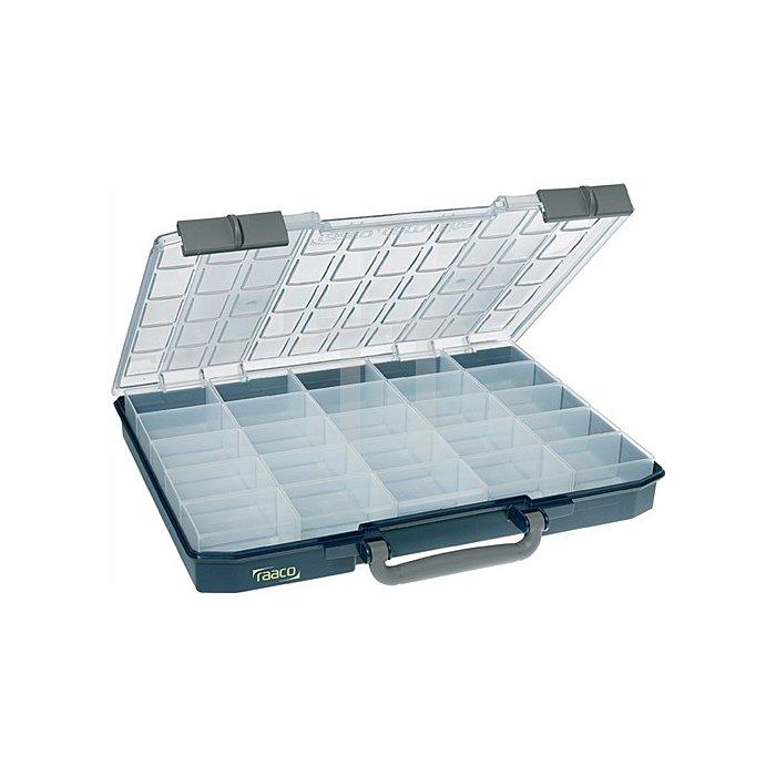 Sortimentskasten B.415xT.330xH.57mm 25Fächer Unterteil PP/Deckel a.PC