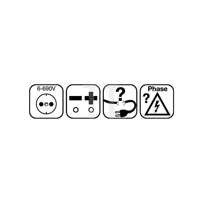 Spannungs-/Durchgangsprüfer 6-400 V AC/DC Anzeige LED Master Check