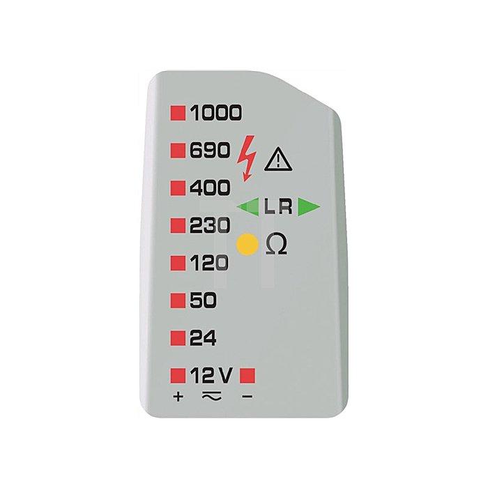 Spannungsprüfer 12-1000 V AC/DC 2pol.Last zuschaltb.DrehfeldprüfungDUSPOL expert