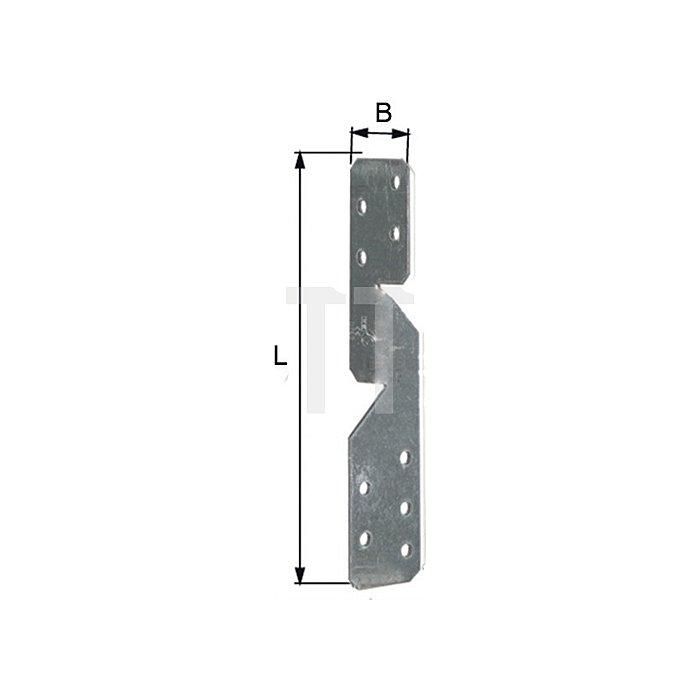 Sparrenpfettenanker 170x32x32mm sendzimirverzinkt universal